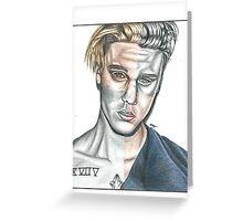 Justin Bieber Greeting Card