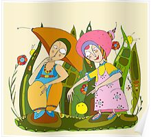 Children Play Grass Poster