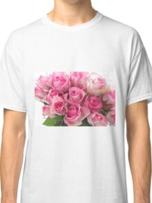 Pink Roses Bouquet Classic T-Shirt
