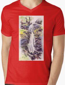 Canonteign Falls, Dartmoor Mens V-Neck T-Shirt