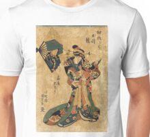 Courtesan Yugiri of Ogiya - Toyokuni Utagawa - c1835 - woodcut Unisex T-Shirt