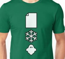 Paper... Snow... A ghost! Unisex T-Shirt