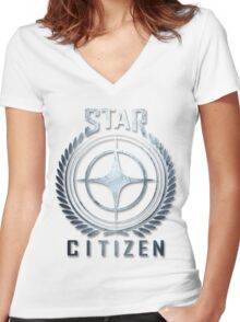 Star citizen Women's Fitted V-Neck T-Shirt