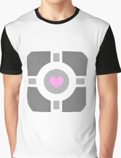 Portal Companion Cube Graphic T-Shirt