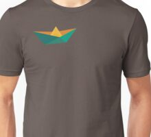 Green Orange Polygon Paper Boat Unisex T-Shirt
