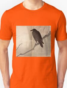 Crow On A Willow Branch - anon - c1880 T-Shirt