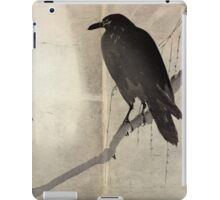 Crow On A Willow Branch - anon - c1880 iPad Case/Skin