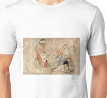 Daikoku And Courtesan - Massanobu Okumura - c1715 - woodcut Unisex T-Shirt