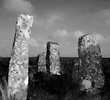 Stones at Zennor Quoit, Cornwall by Barnaby Edwards