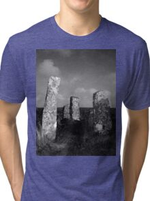 Stones at Zennor Quoit, Cornwall Tri-blend T-Shirt