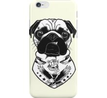Tattooed Dog - Pug iPhone Case/Skin