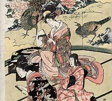 Daimyo's Mansion - Toyohiro Utagawa - c1804 - woodcut by CrankyOldDude