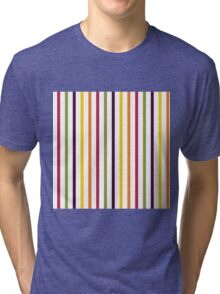 Fruit Tree Stripe Pattern Tri-blend T-Shirt
