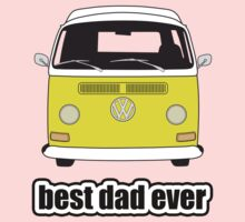 Best Dad Ever Yellow Early Bay Kids Tee