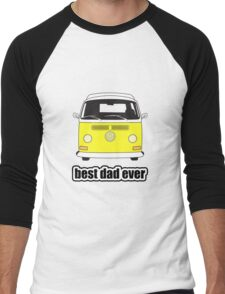 Best Dad Ever Yellow Early Bay Men's Baseball ¾ T-Shirt