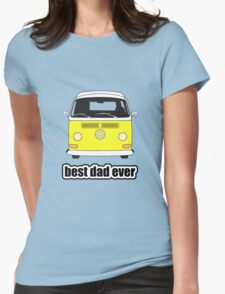 Best Dad Ever Yellow Early Bay Womens Fitted T-Shirt