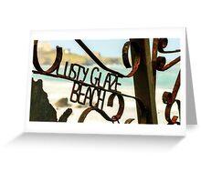 Lusty Glaze Beach,North Cornwall Greeting Card