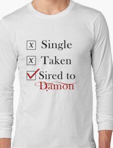 Sired To Damon Salvatore. TVD TShirt Long Sleeve T-Shirt