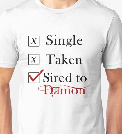 Sired To Damon Salvatore. TVD TShirt Unisex T-Shirt