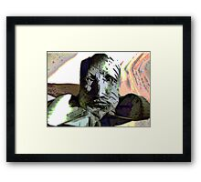 The Cynic -  Peering Stone Bust Figure Framed Print