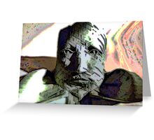 The Cynic -  Peering Stone Bust Figure Greeting Card