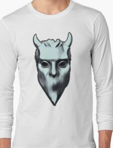 NAMELESS GHOUL - silver oil paint Long Sleeve T-Shirt