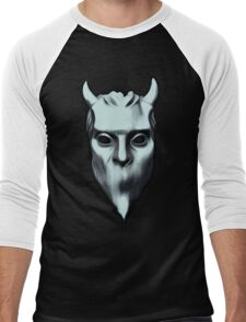 NAMELESS GHOUL - silver oil paint Men's Baseball ¾ T-Shirt