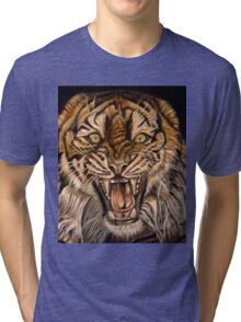 Brawler-Tiger With Issues Tri-blend T-Shirt