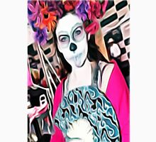 'Veronica Zombie' - Girl with Skull Face Paint Unisex T-Shirt