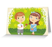 Girl Boy Love Date Greeting Card