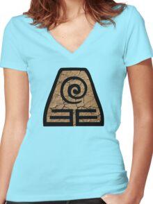 Earthbending - Avatar the Last Airbender Women's Fitted V-Neck T-Shirt