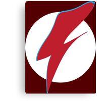 Flash Bowie Canvas Print