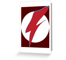 Flash Bowie Greeting Card