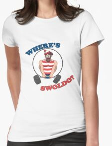 Where's Swoldo? Womens Fitted T-Shirt
