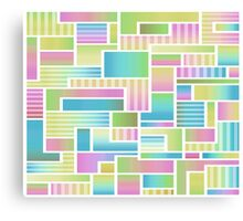 Abstract Pastel Color Blocks Canvas Print