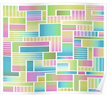 Abstract Pastel Color Blocks Poster