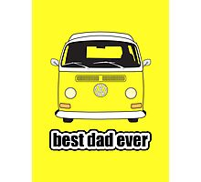 Best Dad Ever Yellow Early Bay Photographic Print