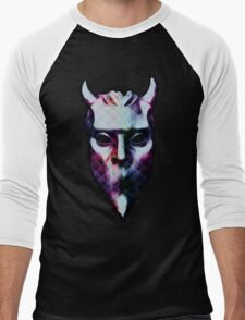 NAMELESS GHOUL - polyfab oil paint Men's Baseball ¾ T-Shirt