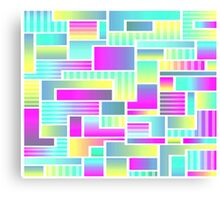 Abstract Neon Color Blocks Canvas Print