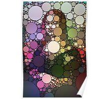 Bubble Art Mona Lisa Poster