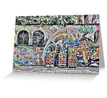 Milanese Graffiti Greeting Card