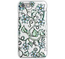 Floral Blues iPhone Case/Skin