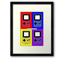 Gameboy Color - What Color is Yours? (Background) Framed Print