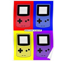 Gameboy Color - What Color is Yours? (Background) Poster