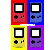 Gameboy Color - What Color is Yours? (Background) Photographic Print