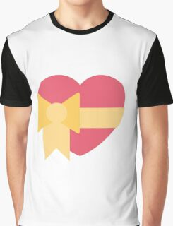 Pink heart with ribbon emoji Graphic T-Shirt
