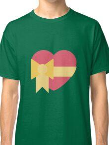 Pink heart with ribbon emoji Classic T-Shirt