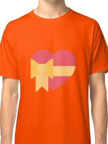 Pink heart with ribbon emoji Classic T-Shirt