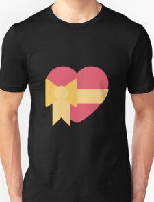 Pink heart with ribbon emoji Unisex T-Shirt
