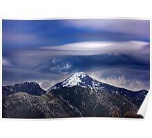 Strange cloud over Mavrovouna mountain Poster